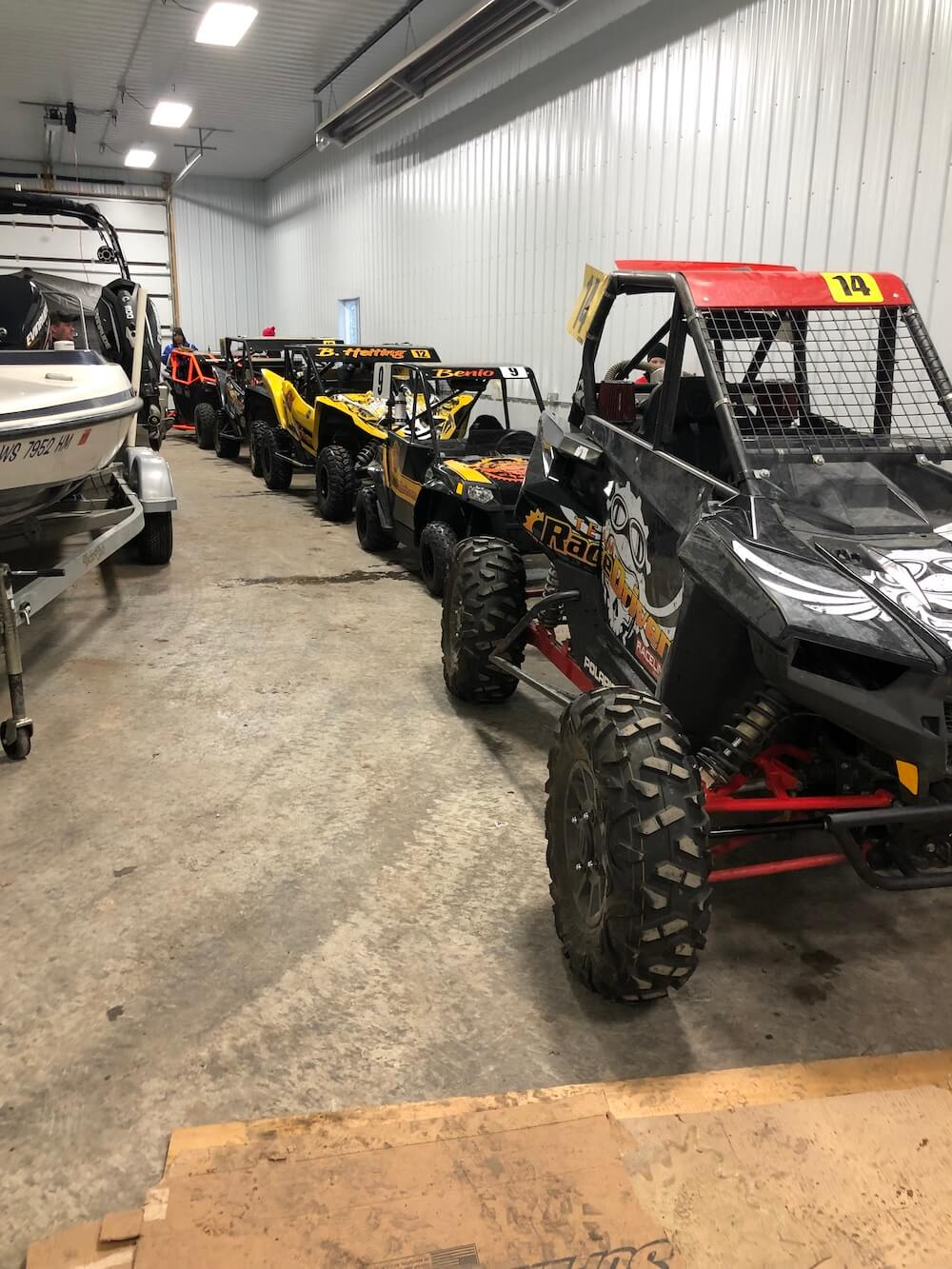 Five SXS's in a shed