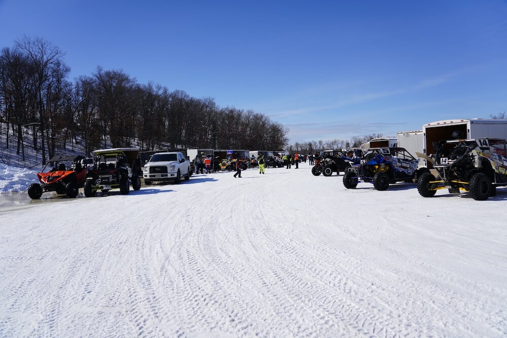 Race pit area at the Twin Bridge Takedown on High Falls Flowage in northern Wisconsin